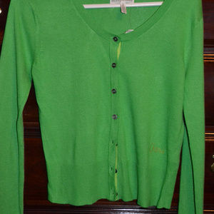 Aeropostale Green Cardigan Sweater, Size Small